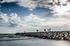 Storm and Sunshine (micha-m) Tags: sea cloud sun storm beach water sunshine strand turkey wasser waves side wolken türkei wellen sonnenschein sturm