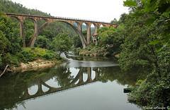 Ponte do Poo de Santiago (marialusaarajo) Tags: ponte poodesantiago riovouga belosreflexos