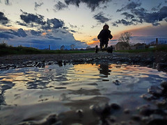 Keep going (Ben Heine) Tags: benheinephotography photography sunset evening landscape nature photographie ownthetwilight child enfance enfant dream reve clouds