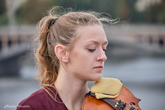 DSCF8318 2 (mates215) Tags: violin musician concert girl bridge prague charlesbridge public people