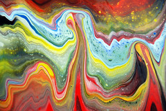 Interfering Waves Of Colour (markchadwickart) Tags: mark chadwick art painting paint fluid liquid interfere wave waves wavy colour color shore sea water abstract abstractart modernart modern blue yellow red green flow flowing vibrant vivid