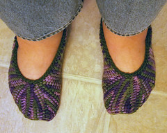 First Tunisian Slippers (tephralynn) Tags: crochet tunisiancrochet afghancrochet slippers acrylic