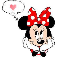 []LINE10 (sutaemon) Tags: sticker message    disney love minnie mouse