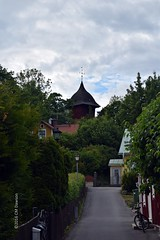 Church Bell Tower in Sigtuna (Christopher M Dawson) Tags: church bell tower viking baltic scandinavia homelands travel international foreign tourism adventure history scenery art architecture europe 2016cmdawson nikon sweden sigtuna town village old small quaint lake