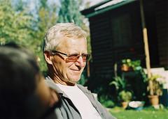 Godfather Marcin (Robert Ugroci) Tags: portrait men godfather marcin bertotovce glasses sun 35mm praktica ltl3 helios 442 fujifilm c200 c41