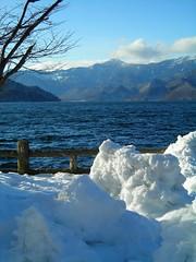 Heavy snow, Nikko National Park, Japan (nick taz) Tags: nikkonationalpark lake snow snowdrift winter cold japan