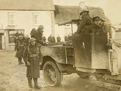 Military carrying out official reprisal following an ambush in Meelin, Co. Cork (National Library of Ireland on The Commons) Tags: hoganwilsoncollection wdhogan nationallibraryofireland military officialreprisal reprisal ambush meelin cocork ireland munster cork seanmoylan rebelleader sinnfeiners auxiliary blackandtans 5thjanuary1921 05011921 hamargreenwood generalstrickland dateestablished
