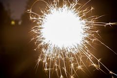 Bright Sparkler (PatrickJamesB) Tags: night time dark low light black evening midnight nightfall spark sparkler bright sharp pointy firework fireworks 80d canon dslr