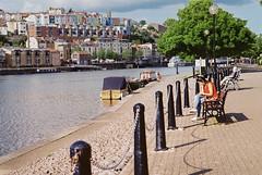 Bristol (erikapaige91) Tags: bristol water pentax film uk city people woman summer color boats