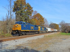 CSX 7776 and 8136 (Trains & Trails) Tags: q39405 yn3b darkfuture csx train railroad widecab engine locomotive diesel transportation banning pennsylvania fayettecounty ge c408w generalelectric