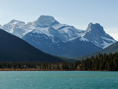 Gap Lake (annkelliott) Tags: alberta canada wofcalgary highway1a 8kmeofcanmore gaplake nature scenery landscape water lake mountains peaks snow tree trees forest fallcolour outdoor fall autumn 23october2016 fz200 fz2004 annkelliott anneelliott anneelliott2016 allrightsreserved