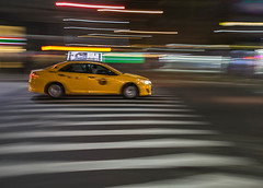 Panning Shot of N.Y Taxi (vcostanz) Tags: ny nytaxi yellowtaxi taxi zebracrossing panning