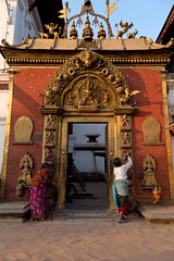 Golden gate at Bhaktapur Durbar Square