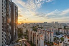 DSC05054-HDR-Edit_LR (teckhengwang) Tags: sunrise from clementi singapore landscape hdb