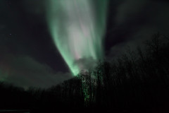 Aurora over Mid Lake (She Likes Odd) Tags: aurora auroraborealis auroralarc northernlights northernmanitoba thompson manitoba tokina1116mm tokina canon60d canoneos60d canonphotography nightsky nightphotography astrophotography spaceweather geomagneticstorm