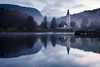 Morning at Lake Bohinj in Slovenia (Ian Middleton: Photography) Tags: bohinj lake mountains church saint john janez morning triglav park national valley slovenia scenic scenery stunning alpine resorts popular region gorenjska beautiful landscape picturesque slovene slovenian summer famous travel holiday tourism tourist attraction vacation europe eu european former yugoslavia reflection mist misty clear mood moody
