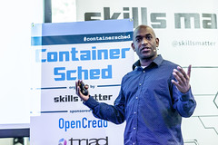 ContainerSched 2016 (Skills Matter) Tags: education code data xd people devops keynote flocker clusterhq kubernetes cloud docker communication skillsmatter software borg groupofpeople differentialfocus hospitality seminar pr businessmeeting scheduler storage technology conference suite xdcontainer container mesos reporting xdsinglenode codenode unikernel london event debate photography weave calico developers reportage paas presentation meeting