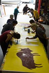 IMG_5594-1 (rawEarth) Tags: nodapl nodirectaccesspipeline signs standingrock artbuild silkscreen waterislife weareheretoprotect banner nativeamerican standingrocksioux solidarity oaklandcalifornia
