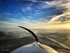 Winter Aviating. Sub zero Perthshire below; the River Tay meandering ahead. December 2016. (Jen_wilsonphotography) Tags: visitscotland generalaviation landscape arielphotography river iphone microlight ev97eurostar sky cloud rivertay scotland perthshire aviation flying winter