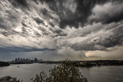 Summer Storm (Crouchy69) Tags: summer storm cloud clouds rain shower sky landscape sydney city skyline harbour harbor australia
