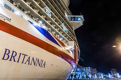 Britannia Docked in Gran Canaria- (JB's shots) Tags: oceanliner britannia liner po grancanaria pentaxk3 longexposure nightexposure