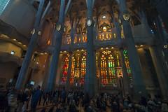 NH0A3900s (michael.soukup) Tags: barcelona sagradafamlia sagrada familia basilica church stainedglass color colorful windows nave interior gaudi churchoftheholyfamily catholicchurch artnouveau architecture neogothic spain catalonia