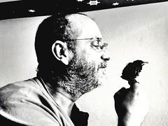 Pinilla and dad  (violabosinco) Tags: blackandwhite bianconero profilo uccello bird pinilla love amore pap dad