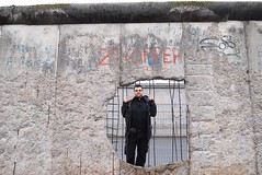 Breaking the Wall (RECTANGULAR ART) Tags: berlin wall berlinwall berlinermauer coldwar germany deutschland ddr eastgermany eastberlin westberlin concrete hole