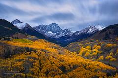 Capitol Peak at Autumn (Mengzhonghua) Tags: autumn capitol peak aspen mountians landscape colorado