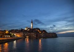 Rovinj Evening Light (Stephen P. Johnson) Tags: croatia places istria rovinj 201610010111 evening light night water reflection
