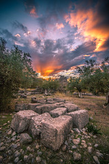 A part of the 4-3 BC fortress in Porto Germeno,Greece. (Vagelis Pikoulas) Tags: castle fortress porto germeno greece architecture archaelogical archaeology old stone stones rocks canon 6d tokina 1628mm view landscape sky sun sunset europe november 2016 autumn clouds cloud cloudy