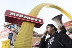 Fight for $15 demonstrations in Las Vegas, morning (FreezeTimeDigital) Tags: lasvegas nv usa fightfor15 mcdonalds protest demonstration minimumwage photojournalism nikond750