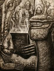 PIPER.8x12.kd matheson (kdm3000) Tags: surrealart psychedelicart visions dreams magick sirius tarot fantastic pipes smoking luciddreams kdmatheson