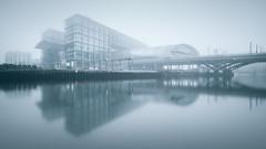 Berlin Central-Station | Berlin, Germany 2016 (philippdase) Tags: berlin centralstation hauptbahnof city formatthitech foggy spreeriver longexposure modern architecture reflection philippdase pentaxk1 pentax