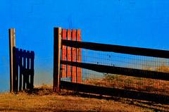 Shadow Corral (hutchphotography2020) Tags: corral gate shadow cinderblockwall pen nikon hutchphotography