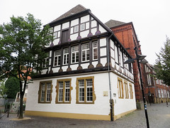 IMG_5438 (jaglazier) Tags: 15thcentury 15thcenturyad 2016 91716 architecture bielefeld buildings copyright2016jamesaglazier geometricdesigns germany houses northrhinewestphalia september stonework woodenbuildings woodworking art crafts halftimbered reconstructed reliefs restored nordrheinwestfalen