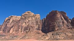 Wadi Rum  /   # 19 (schreibtnix) Tags: reisen travelling naherosten neareast  jordanien jordan  landschaft landscape wste desert wadirum  felsen rocks himmel sky blau blue olympuse5 schreibtnix