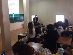 "Al-Farabi Kazakh National University - Lecture delivering <a style=""margin-left:10px; font-size:0.8em;"" href=""https://www.flickr.com/photos/89847229@N08/31256332651/"" target=""_blank"">@flickr</a>"
