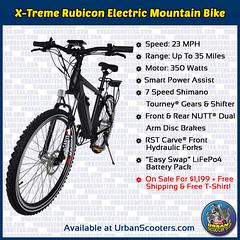X-Treme Rubicon Electric Mountain Bike (urbanscooters) Tags: xtreme rubicon electricmountainbike electricmountainbikes mountainbike mountainbikes electricbike electricbikes bike bikes coupon powerassist shimano rst nutt 350watts 350w