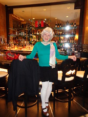 All To Myself (Laurette Victoria) Tags: tights mini sweater scarf silver woman laurette milwaukee pfisterhotel