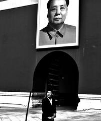 Two Portraits (hearn_josh) Tags: mao beijing china portrait tiananmen forbidden city asia black white monochrome