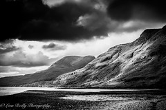 The Scottish Highlands BW-10 (broadswordcallingdannyboy) Tags: bw holiday mono scotland blackwhite highlands loch wilderness canoneos torridon westernhighlands canonlens scottishloch northwesthighlands scotlandlandscape leonreilly eos7d lightroom4 leonreillyphotography copyrightleonreillyphotography scottishhighlandsbw