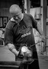 Theresienthal Glass Blower/Artist (1mpl) Tags: bw monochrome portraits germany bavaria travelphotography niksilverefexpro olympusomdem1 theresienthalglassfactory