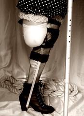 Black and white brace and amp (JKiste2008) Tags: leg amp brace amputee caliper