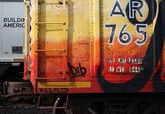 Stackabones (quiet-silence) Tags: railroad art train graffiti streak railcar unionpacific graff freight reefer armn fr8 moniker stackabones armn765115