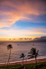 Ka'anapali Beach Sunset, Maui - 27 (www.bazpics.com) Tags: ocean sunset sea summer usa cloud sun west color colour beach water clouds america island hawaii islands us sand unitedstates pacific dusk maui hawaiian hi lahaina kaanapali
