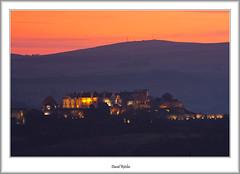 Stirling Castle at Dusk (flatfoot471) Tags: winter sunset urban castle landscape scotland unitedkingdom dusk stirling normal wallacemonument stirlingshire stirlingcastle 2013