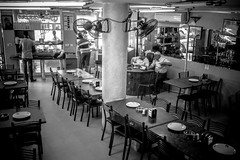 Jericho restaurant (fotoesperimenti) Tags: street people mono restaurant palestine piano eat vista fujifilm inside jericho ristorante interni reportage tavoli