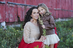 (irina_kra) Tags: life family flowers light red two portrait people sun fall love smile field barn mom fun outside outdoors happy outfit beige boots daughter naturallight together sunflare 50mm18 nikond300