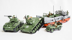 COBI US Landing Craft (Adam Purves (S3ISOR)) Tags: usa brick set america soldier army marine tank unitedstates lego jeep military wwii ww2 marines landingcraft normandy sherman willys worldwar2 cobi chaffee m4a1 m24 24500 2457 2464 smallarmy